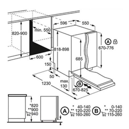 מדיח כלים אינטגרלי מלא 13 מע' כלים FSE83810P