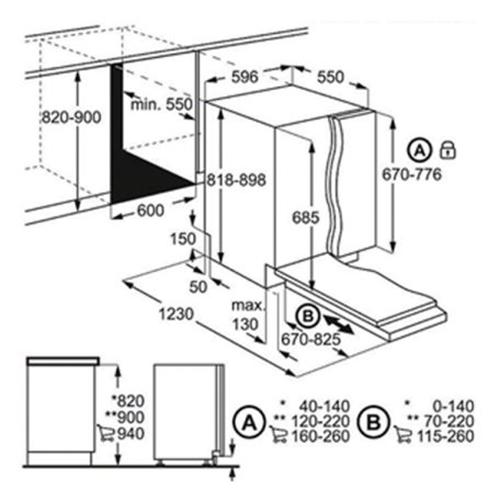 מדיח כלים אינטגרלי מלא 15 מ' כלים FSK93705P AirDry
