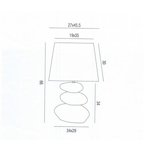 מנורת שולחן בעיצוב ייחודי ומודרני ורדה חום ביתילי