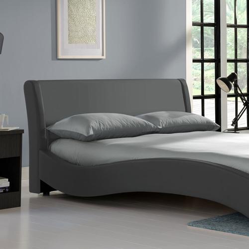 מיטה זוגית מרופדת ומרשימה בעיצוב מעוגל HOME DECOR