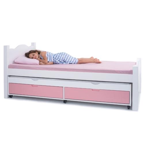 מיטה יחיד מושלמת בעיצוב קלאסי עם ידיות אינטגרליות