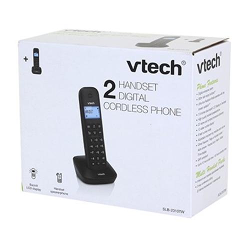 טלפון דק כפול שחור Vtech דגם SLB-2310TW