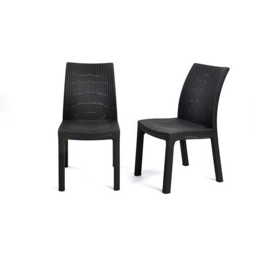 זוג כיסאות רטאן לפינת אוכל ולגן דגם מילאנו KETER