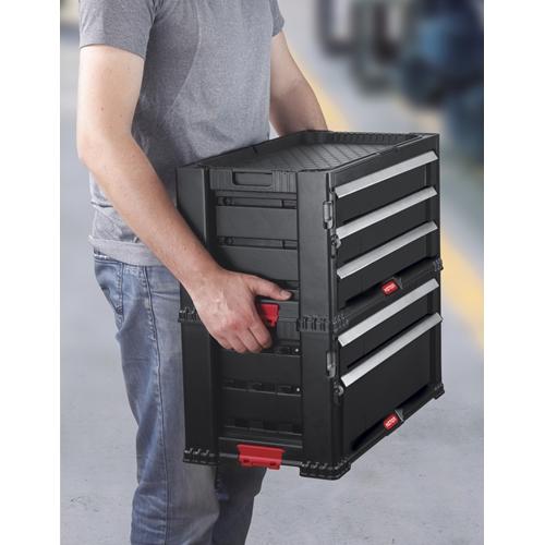 סט מערכת מגירות 3+2 שימושי ואיכותי KETER