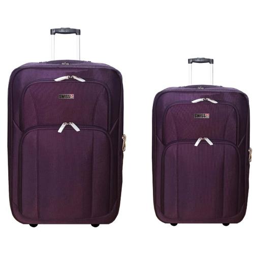 """זוג מזוודות בד 24"""" + 28"""" חזקות ואיכותיות SwissClub"""