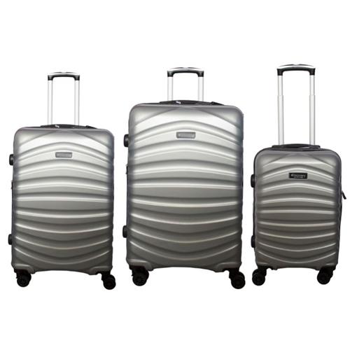 שלישיית מזוודות איכותיות ABS AND PC מבית DISCOVERY