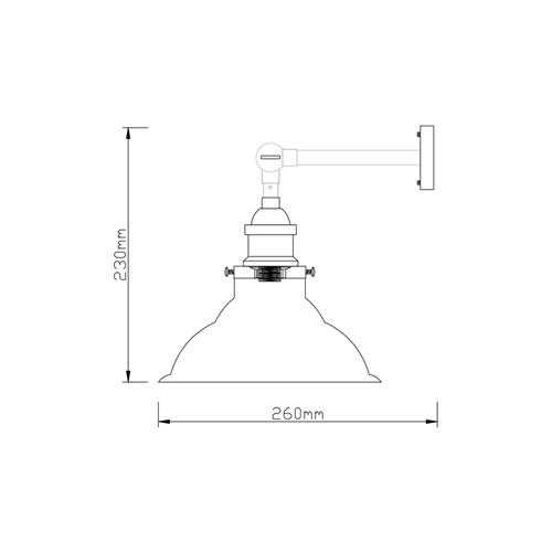מנורת קיר מעוצבת זכוכית בגוון קוניאק ביתילי