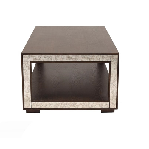 שולחן קפה לסלון מעוצב בגימור פורניר/מתכת ביתילי
