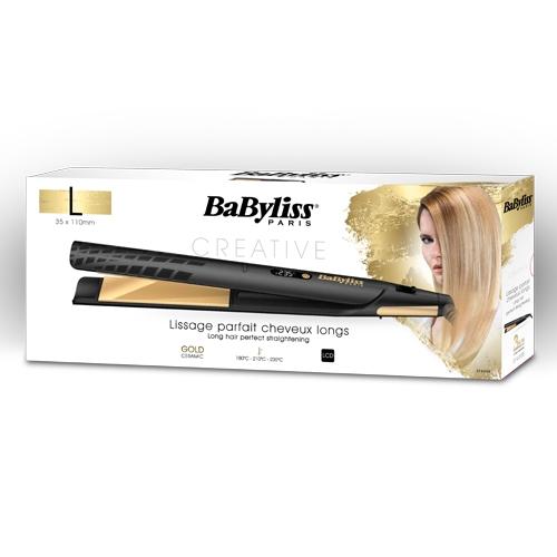 מחליק שיער בציפוי זהב קרמי איכותי במיוחד בייביליס