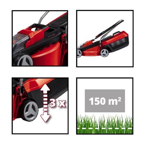 מכסחת דשא מקצועית נטענת עם 25 נפח מיכל Einhell