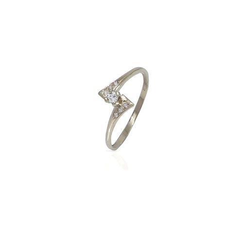 טבעת זהב עם יהלומים עדינה ויפהפיה עבודת יד 14K