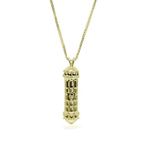 שרשרת זהב לגבר עם תליון מזוזה