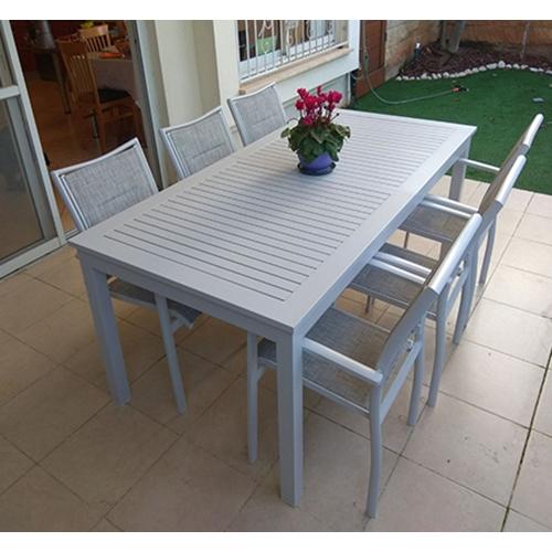 פינת אוכל ייחודית לגינה ולמרפסת כולל 6 כיסאות