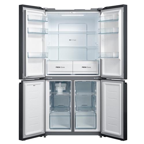 מקרר 4 דלתות 544 ליטר זכוכית לבנה MIDEA