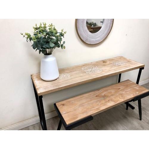 ספסל מעוצב מעץ מלא דגם enjoy מבית TUDO DESIGN