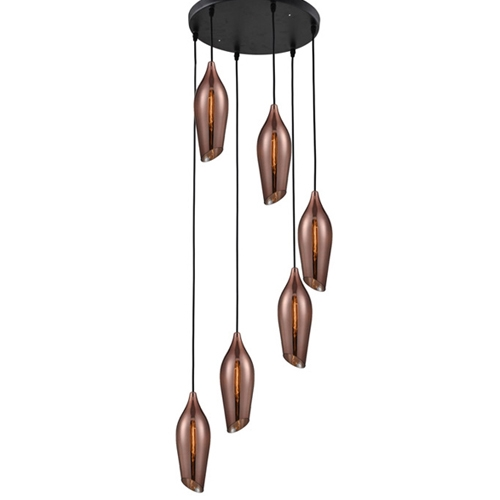 מנורת תליה דגם דנאל 6 קופר -ביתילי