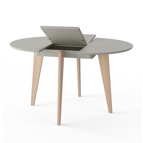 שולחן אוכל עגול נפתח מעץ מלא משולב HOME DECOR