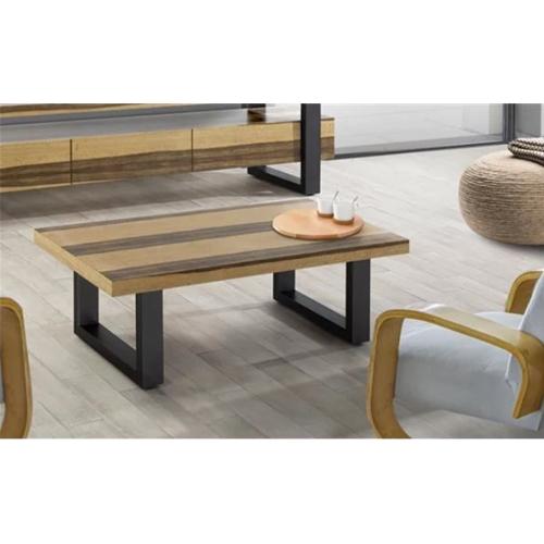 שולחן לסלון עשוי מעץ בשילוב פורניר דגם וודסטוק
