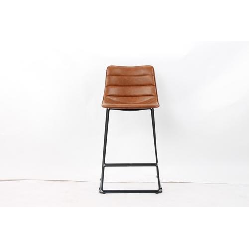 כסא בר מעוצב עם רגלי מתכת דגם 5410