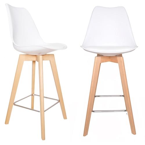 זוג כסאות בר דגם דותן לבן