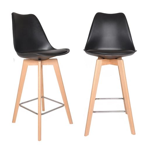 זוג כסאות בר דגם דותן שחור