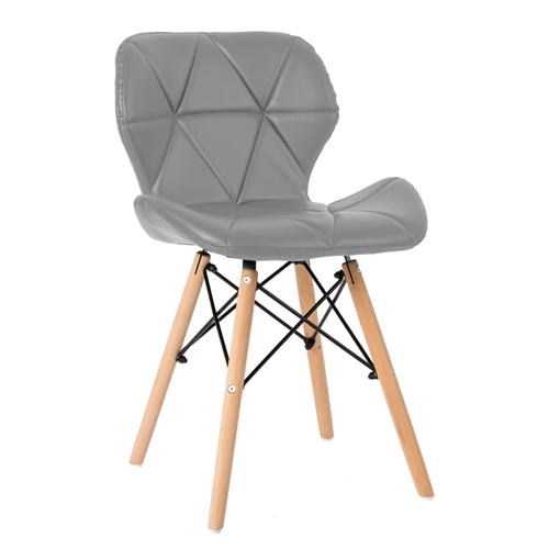 זוג כסאות מרופדים דגם סתיו אפור