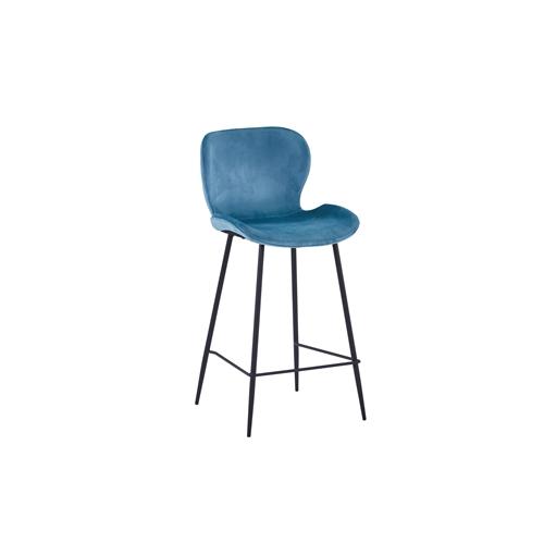 כסא בר מעוצב עם ריפוד קטיפה דגם B555