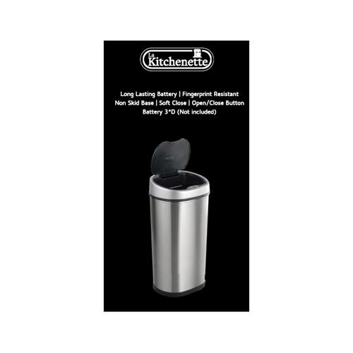 פח אשפה אוטומטי 40/50 ליטר נירוסטה אנטי בקטריאלי