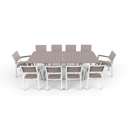 סט שולחן מתארך ו-8 כיסאות דגם הרמוני מבית KETER