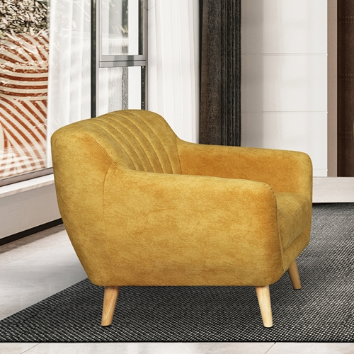 כורסא מעוצבת בעיצוב רטרו עם ריפוד בד HOME DECOR