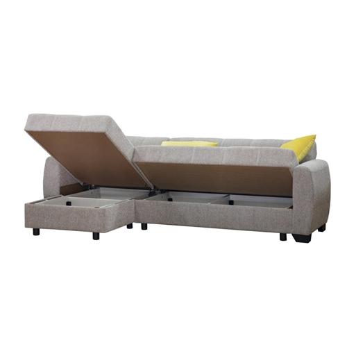 מערכת ישיבה פינתית נפתחת למיטה עם ארגז מצעים אריאל