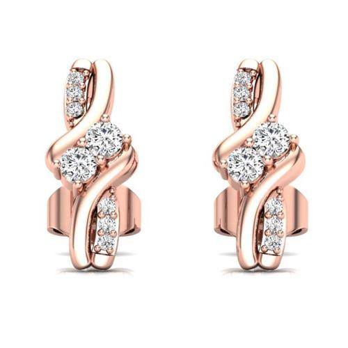 עגילי יהלומים לאישה