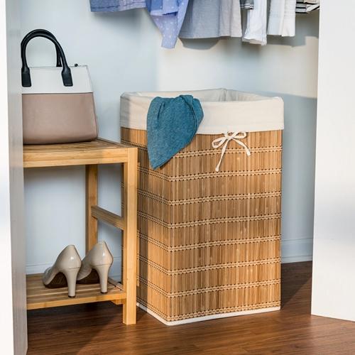 סל כביסה מרובע עשוי מבמבוק דגם HMP-01620