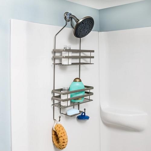 מתקן תלייה לשמפו וסבון במקלחת ללא ברגים דגם BTH-08