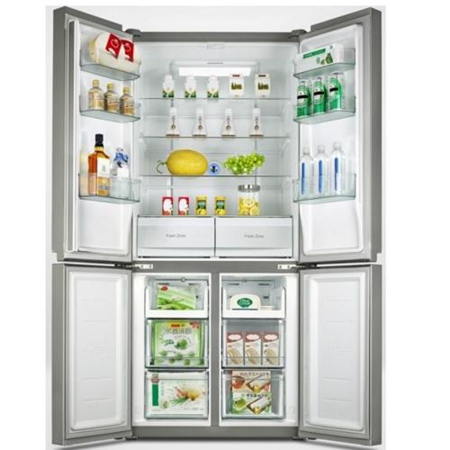 מקרר 4 דלתות אמקור 482 ליטר זכוכית לבנה AM4550GW