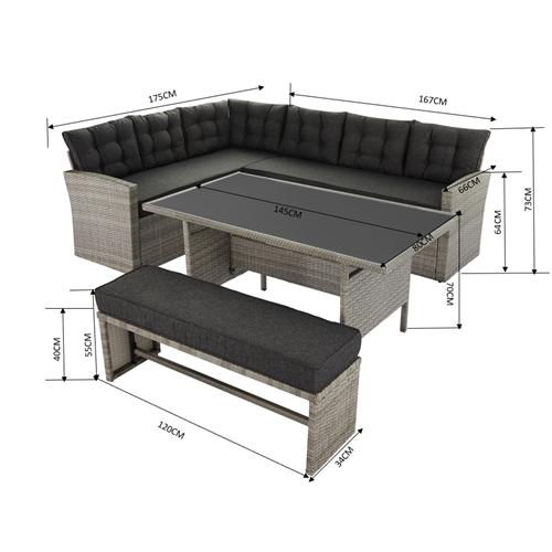 מערכת ישיבה מאלגה ארבעה חלקים CAMP IN