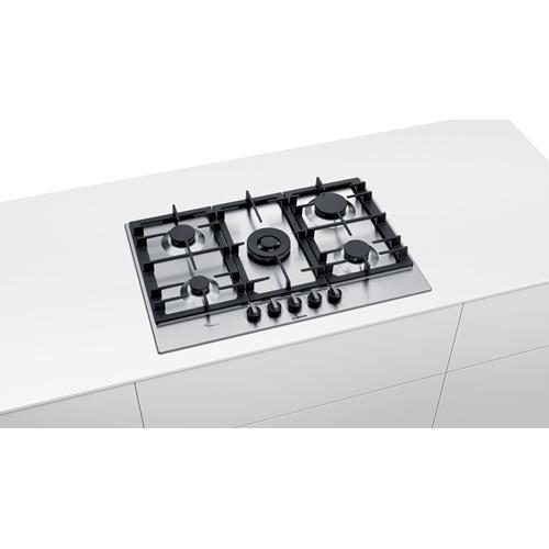 כיריים גז 5 להבות זכוכית לבנה Bosch PCQ7A5B90Y
