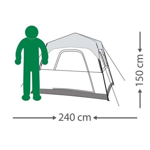 אוהל משפחתי RAPID CABIN ל-4 אנשים מבית GO NATURE