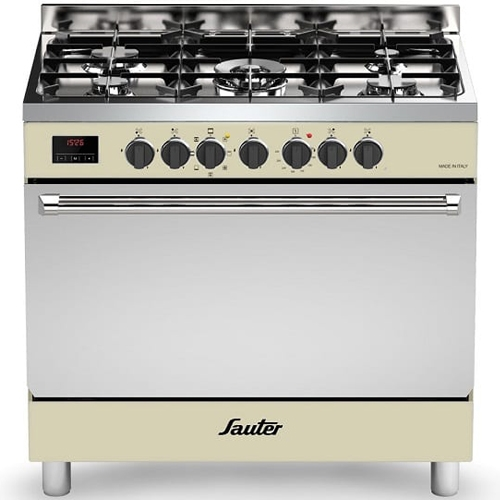 """תנור משולב 90 ס""""מ 5 מבערים SAUTER דגם SBC9025"""