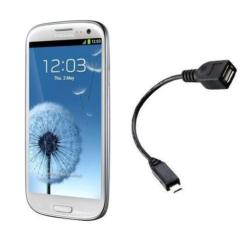כבל OTG לחיבור מוצרי USB לסמסונוג S3 ועוד