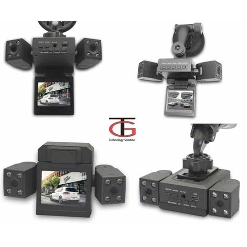 מצלמת רכב HD דואלית עם 2 מצלמות לצילום פנים וחוץ