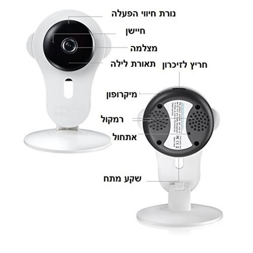 מצלמת IP אלחוטית קומפקטית לצפייה מרחוק