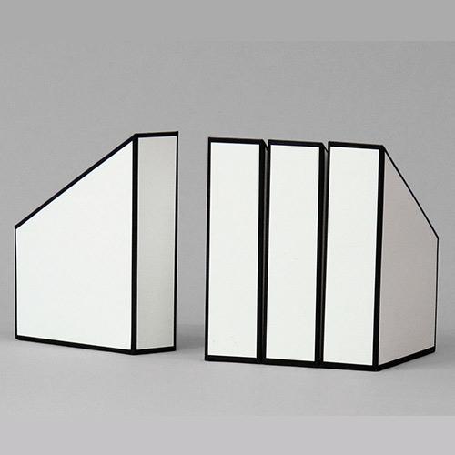 סט 4 קופסאות קטלוג מקרטון במבחר צבעים
