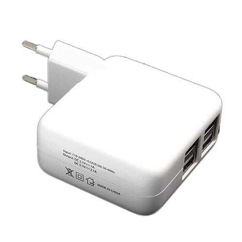 מטען קיר USB עם 4 יציאות חזק במיוחד