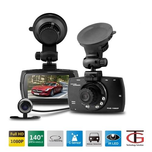 מצלמת רכב FULL HD  משולבת עם צג ו2 מצלמות לצילום