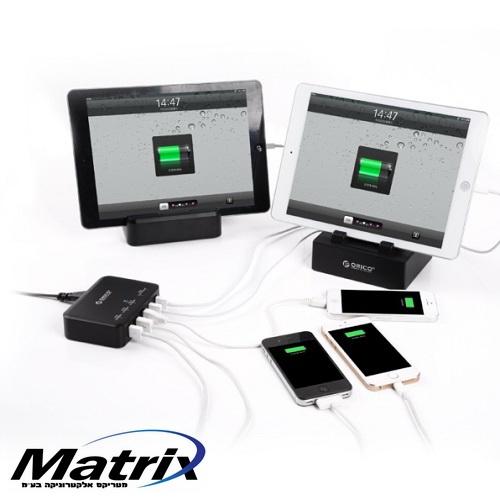 מטען איכותי עד 5 מכשירים בעוצמה של 40W - 7.8A