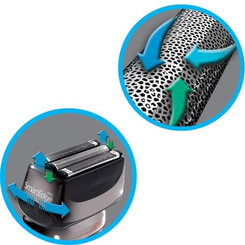 מכונת גילוח Smart Edge Pro נטענת רמינגטון +טרימר