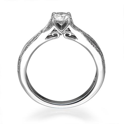 טבעת אירוסין זהב 14K משובצת יהלומים
