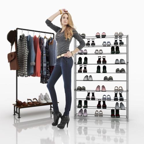 מעמד נעליים עד 50 זוגות נעליים ועד עשרה מדפים