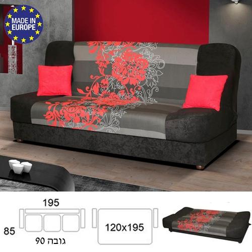 ספה אירופאית נפתחת למיטה רחבה HOME DECOR דגם ליה